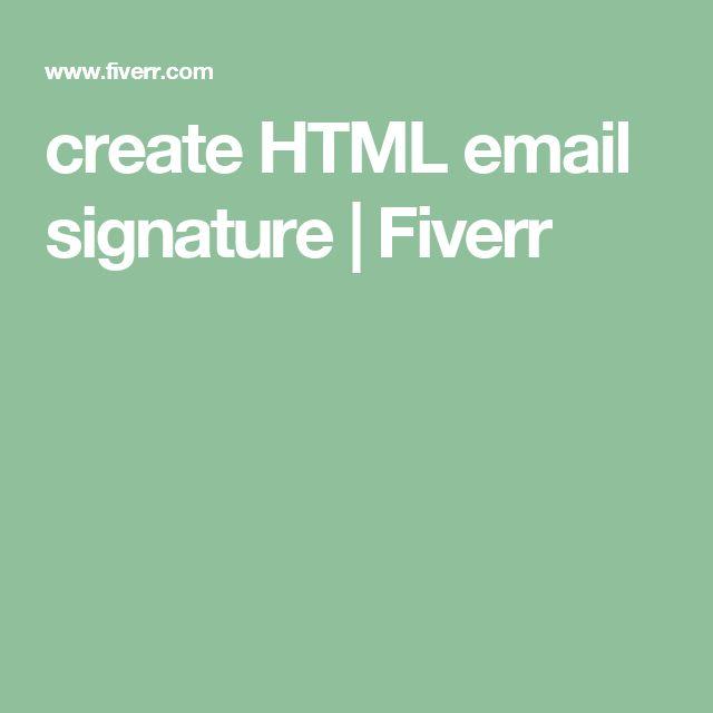 create HTML email signature | Fiverr