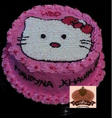 Hello Kitty Cakes Buttercream