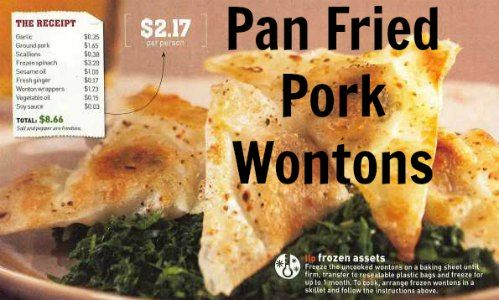Pan Fried Pork Wonton recipe at www.PintSizeFarm.com