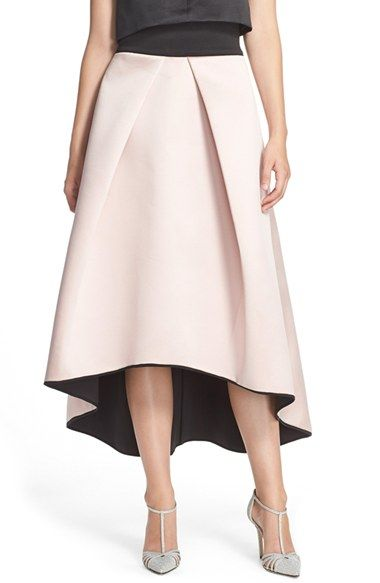 Milly Tuck Pleat Duchess Satin Ball Skirt available at #Nordstrom
