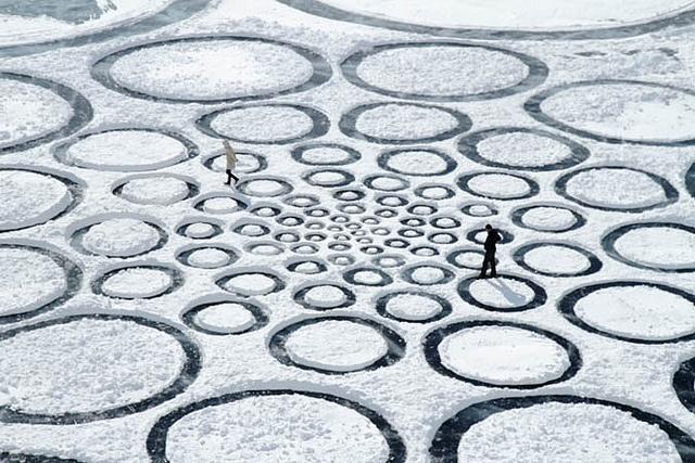 Una espiral de Fibonacci sobre el lago Baikal