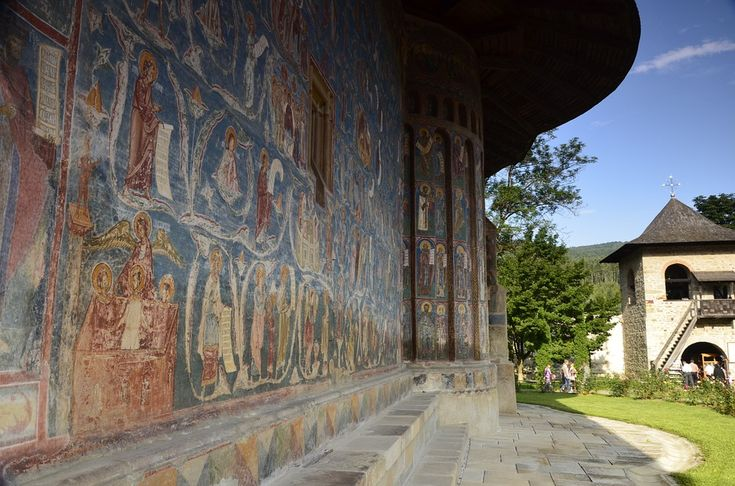 Voronet Monastery is a true work of art  Discover the legend behind this Holy place here: http://monasteryworldwide.com/voronet-monastery-famous-paintings/