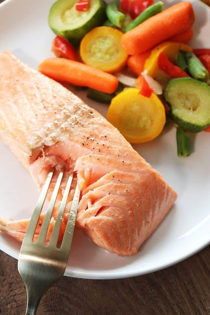 Simple Air Fryer Salmon Recipe In 2021 Delicious Seafood Recipes Cooking Salmon Salmon Nutrition