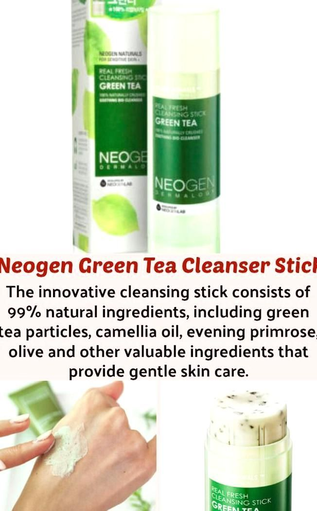 Skin Cleansing Is The First Important Step In Your Skincare Routine Neogena Green Tea Stick Lets You Clea Gentle Skin Care Skin Care Moisturizer For Oily Skin