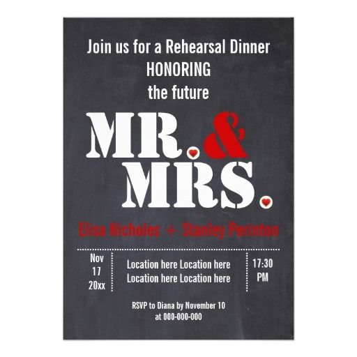 Mr Amp Mrs Typography Wedding Rehersal Dinner Custom