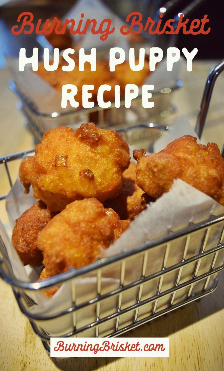 Make legit hush puppies at home with this quick and easy hush puppy recipe! | Burning Brisket | Barbecue Everything | barbecue side recipe, barbecue sides, hush puppies, hush puppy recipe, barbecue appetizer recipe