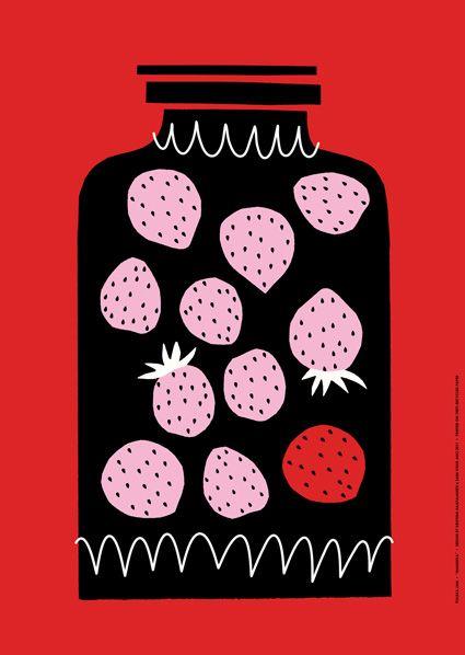 Poster Marjaonni / Mansikka