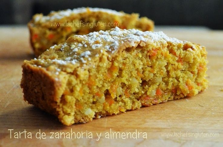 Tarta de zanahoria y almendra | La chef sin gluten
