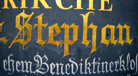 ein paar typografische Schmankerl aus Franken