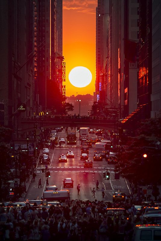 Manhattanhenge, NYC is one of those phenomenon's I really want to see!
