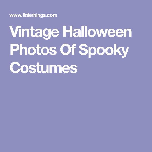 Vintage Halloween Photos Of Spooky Costumes
