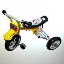 trehjulet cykel fra Kids Sports fås i rød og gul