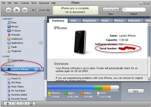 finding iphone by serial number