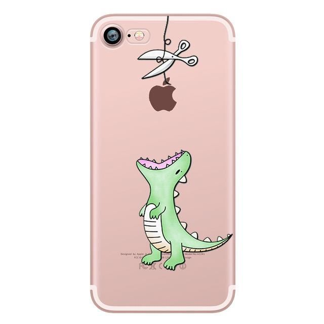 Animals Shape Soft Silicon Cases For Iphone 8 Plus Clear Iphone 6s Plus Case Best Clear Iphone 6s Plus Ca Animal Phone Cases Iphone Cases Cute Iphone Cases