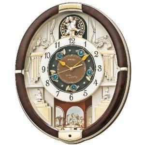 Wrist Watches For Men - SEIKO CLOCK(セイコークロック) からくり掛け時計 濃茶色 RE571B RE571B | 最新の時間センター