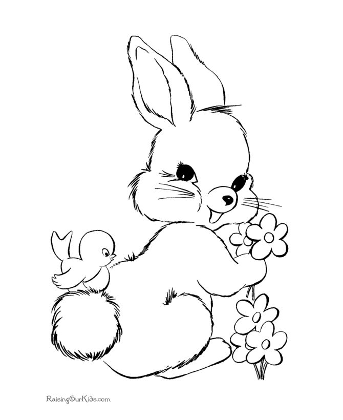 Coloring Pages Easter Bunny Best 25 Easter Coloring Pictures Ideas On Pinterest  Easter .