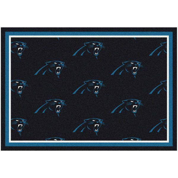 """Carolina Panthers 92"""" x 129"""" Repeating Rug - $399.99"""