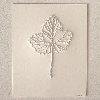 Leaf art - pinholes in paper
