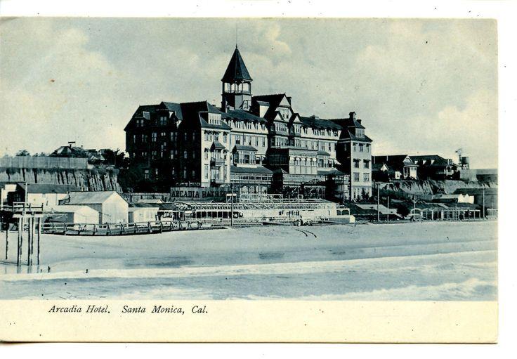 Arcadia Hotel Building-Beach Scene-Santa Monica-California