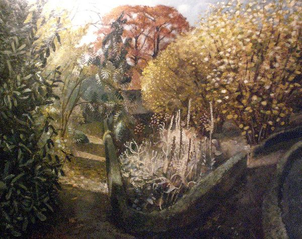 THE GARDEN JOHN ALDRIDGE R.A. (1903-1983)  Oil on board Signed; signed, inscribed with title and dated October 1947