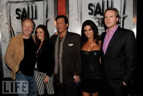 Saw 3D final chapter premier-Shawnee smith Tobin bell, cost as mandylor, Betsy Russell, Cary elwes