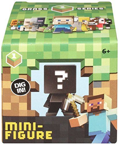 Minecraft Mini-Figures Blind Box Grass 1 Series Review