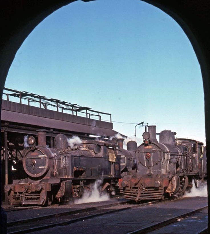 Broad Gage Steam ON The General Roca Line at Bahia Blanca Argentina 1976