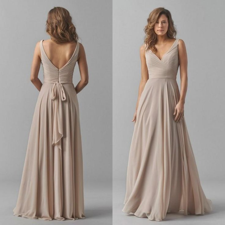 2015 Fall Bridesmaids Formal Dresses Sexy Deep V Neck Elegant Long Sash A Line Backless Champagne Chiffon Bridesmaid Dress Floor Length Bridesmaid Dresses Adelaide Bridesmaid Dresses Blue From Eiffelbride, $65.33| Dhgate.Com