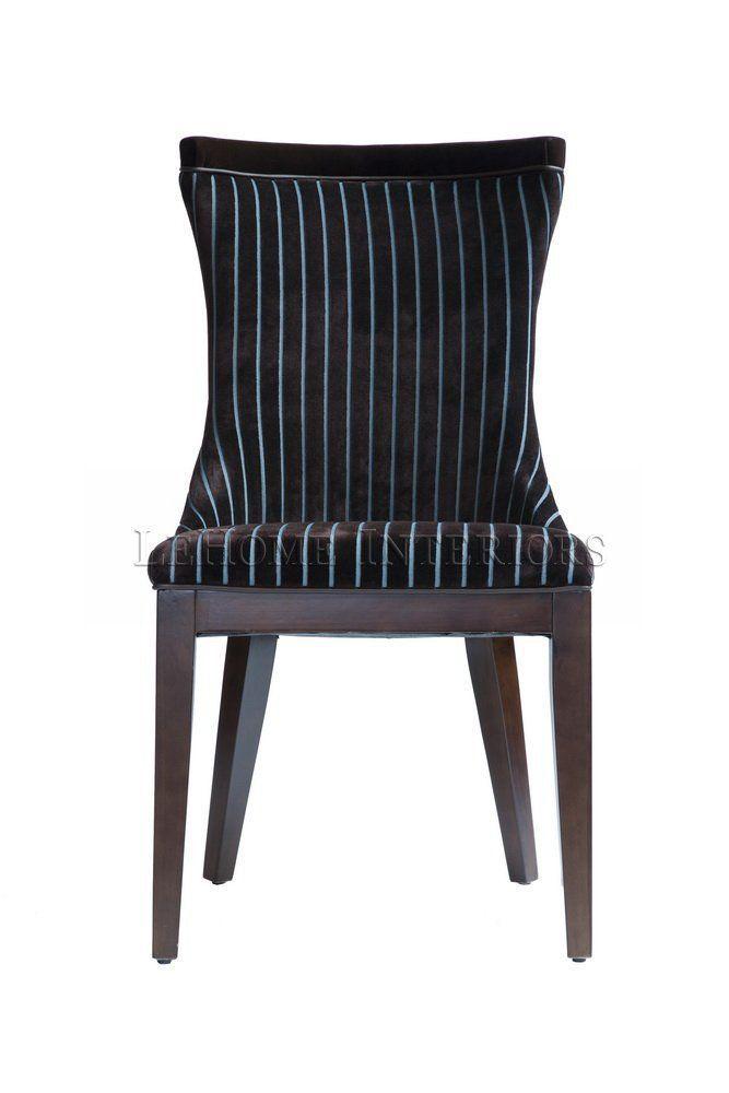 Стул Zebrano Velvet Chair. Кресло в стиле арт деко, обивка - бархат в коричнево-голубую полоску, превосходно сочетается с цветом каркаса, выполненного из массива дуба.