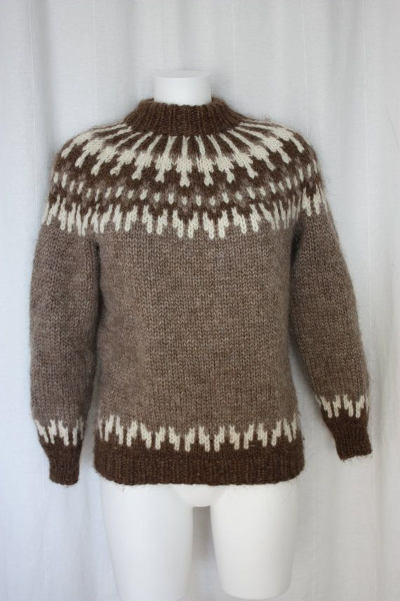 Hand knit Iconic Icelandic wool sweater from by PitzicatVintage, $100.00
