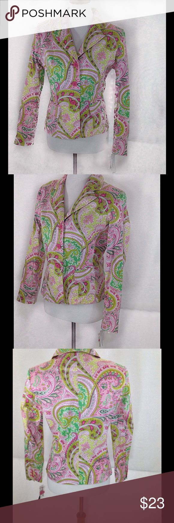 Larry Levine Paisley Blazer Wonderful colors! I love the preppy look of this blazer. See pic 8 for measurements. Measurements are approximate with garment laying flat. Larry Levine Jackets & Coats Blazers