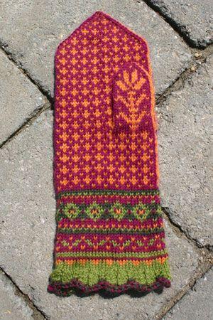 SkiKnits' Amaryllis Mittens Knitting Kit