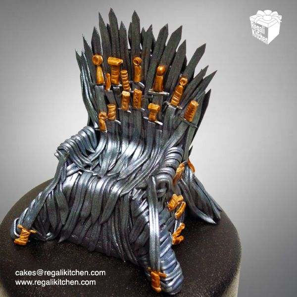 Iron Throne Cake Topper   Game Of Thrones Cake   GOT Cake   Cakes By The