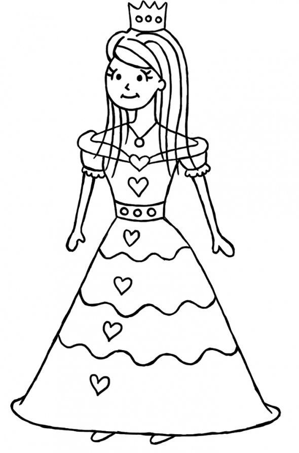 how to draw a princess step by step - Drawing For Kids Images
