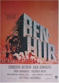 "MOVIE POSTER ~ BEN-HUR -Charlton Heston 27"" x 40"