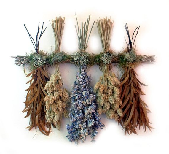 dried herb swag