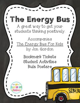 This unit is meant to accompany the book The Energy Bus for Kids by Jon Gordon. It is a great way to get kids thinking about how to obtain, harness, and use positive at school and in their personal lives!