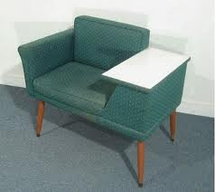 .: Mid Century Modern, Modern Furniture, Vintage Phones, Vintage Telephone, Gossip Benches, Accent Chairs, Midcentury,  Day Beds, Telephone Tables