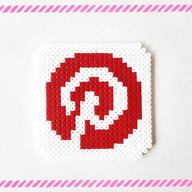 Pinterest logo perler beads by perler_art