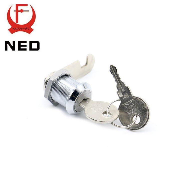30Pcs Ned10320 Cam Cylinder Locks Door Cabinet Mailbox Drawer Cupboard Home Locks 20Mm Length W/ Iron Keys Furniture Hardware