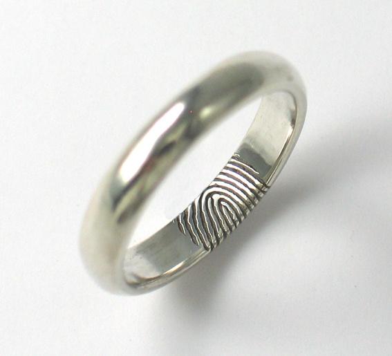 Fingerprint Engraving On The Inside Of Wedding Ring