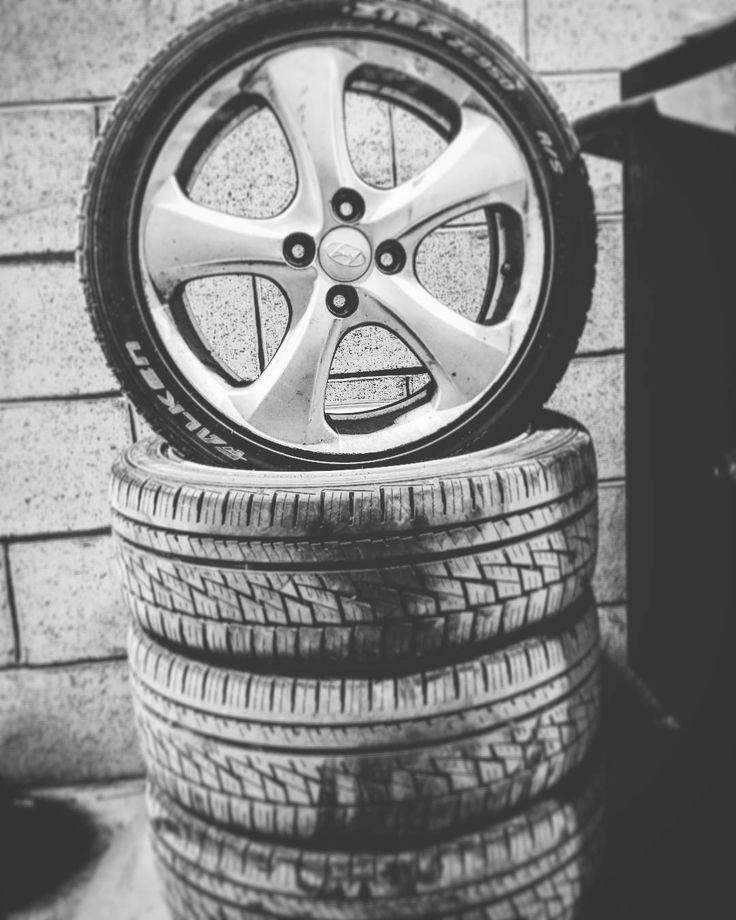 #car #cars #hyundai #hyundai_accent #mecanic #mechanic #falken #tire #wheel #mag cuse i can bitches