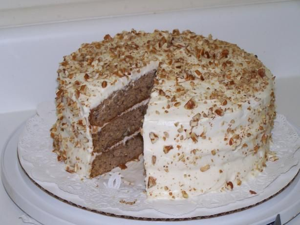 Banana Nut Cake With Cream Cheese Frosting (Paula Deen)