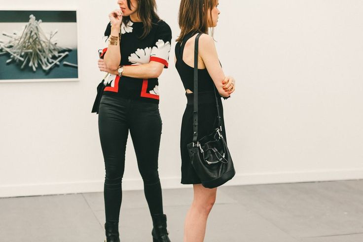 Perfect duo // See more at Racked: (http://ny.racked.com/2015/5/19/8625495/frieze-art-fair-street-style?utm_campaign=ny.racked&utm_content=gallery-post&utm_medium=social&utm_source=pinterest)