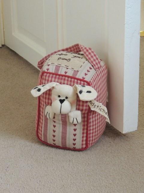 Loveable Dog Handstitched Doorstop