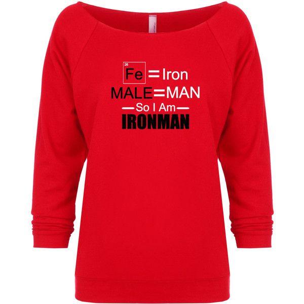 Female Iron Man Avengers Inspired Marvel Scientific Sweatshirt ($22) ❤ liked on Polyvore featuring tops, hoodies, sweatshirts, red, women's clothing, checkered shirt, pattern shirt, lightweight sweatshirts, checked shirt and check pattern shirt