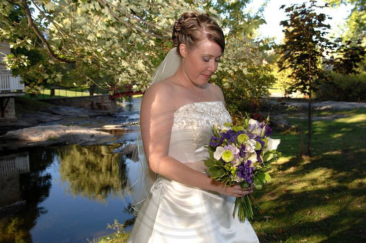 Bride in sunlight at Code's Mill On The Park Perth, Ontario