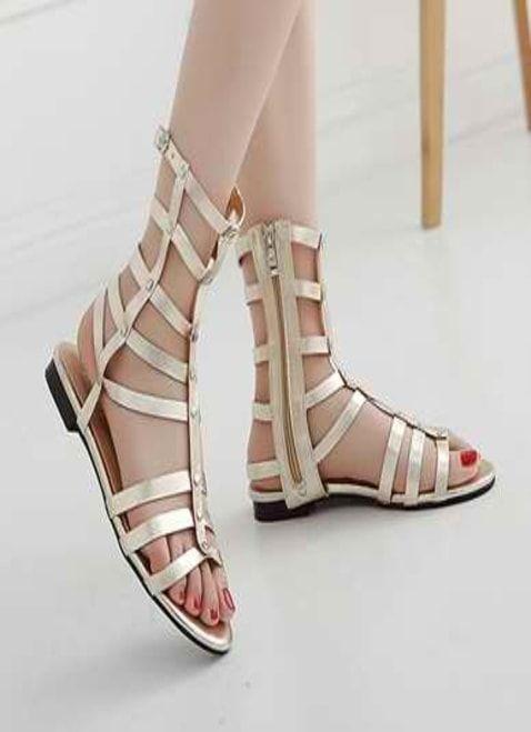 5592d5b8e Simple Long Strips Sandals For Ladies | FLATIES | Wedding shoes heels, Shoes,  Sandals