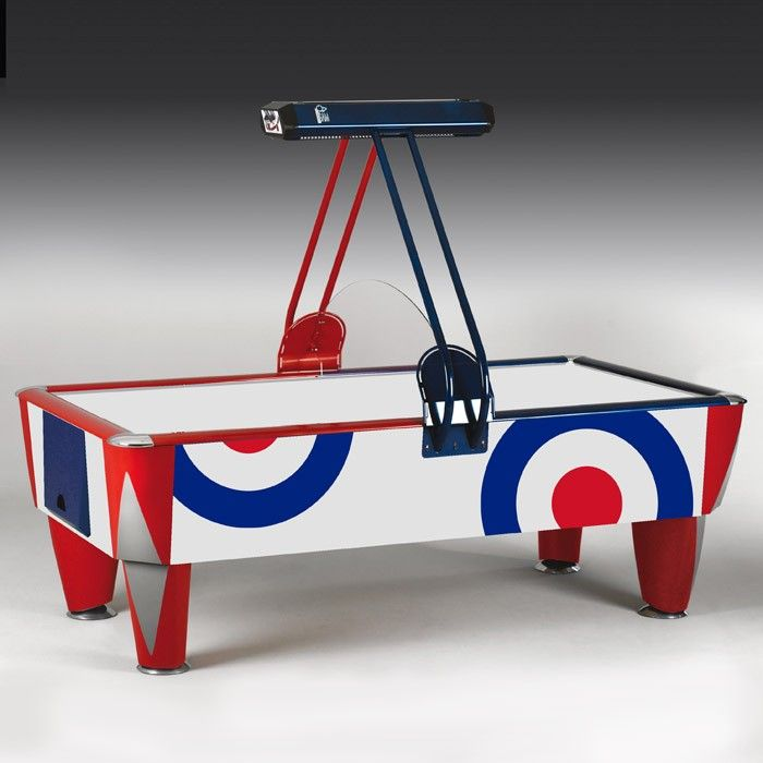 Waldersmith Hurricane Air Hockey Table. The best selling hockey table in the UK, you can't miss the red, white and blue of a Hurricane!