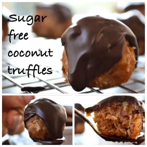 New recipe: Sugar free Coconut Truffles #instacollage #gfree #glutenfree #foodie #instafood #foodpictures #fun #food #follow http://glutenfreeskinny.net #recipe #dessert  #foodpic #yum #gf #foodporn #instagood #cute #miami. #paleo #diet #healthy